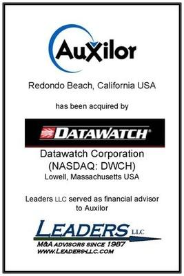 Leaders advises Auxilor on its sale to Datawatch