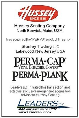 Leaders advises Hussey Seating Company on its acquisition of PERMA-CAP® and PERMA-PLANK®