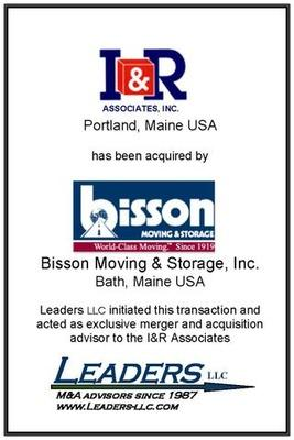 Leaders advises I&R Associates on its sale of assets to Bisson Moving & Storage