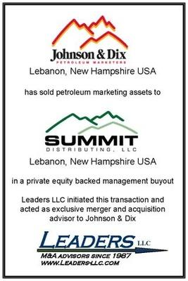 Leaders advises Johnson & Dix on its sale of assets to Summit Distributing