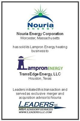 Leaders advises Nouria Energy Corporation on its divestiture of Lampron Energy