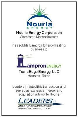 Leaders advises Nouria Energy Corporation on its divestiture of Lampron Energy