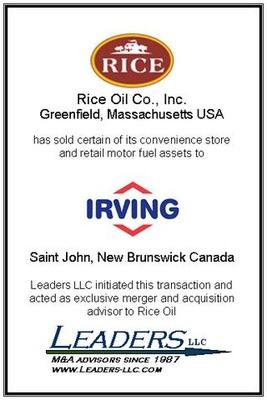 Leaders advises Rice Oil on the sale of certain of its convenience store and retail motor fuels assets