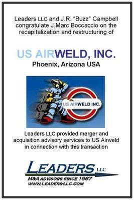 Leaders advises J.Marc Boccaccio on his recapitalization of US Airweld