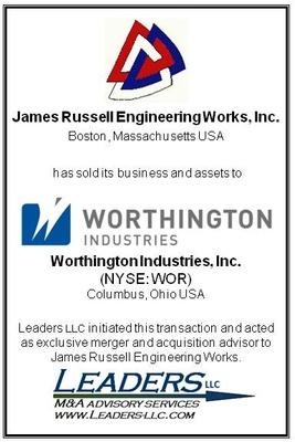 Leaders Advises Russell Engineering on its sale to Worthington Industries