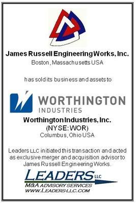 Leaders Advises Russell Engineering on its sale to Worthington Industries