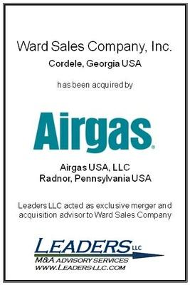 Leaders LLC advises Ward Sales Company on its sale to Airgas